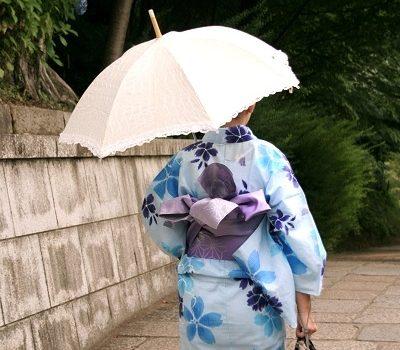 在京都的夏天.穿浴衣散步